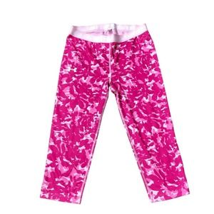 Under Armour Cropped Leggings S Pink White Camo